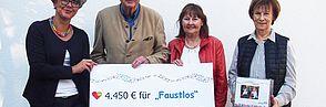 """Spende statt Geschenke - über 4.000 Euro für """"Faustlos"""""""