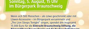 Am 5. August wird im Bürgerpark gewettet und gesungen